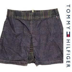 VTG Tommy Hilfiger Denim and Plaid Mini Skirt